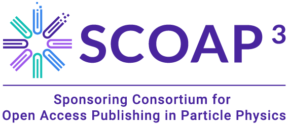 Logo SCOAP3 - The Sponsoring Consortium for Open Access Publishing in Particle Physics